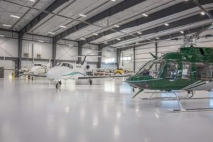 hangar with aircraft at hillsboro aviation