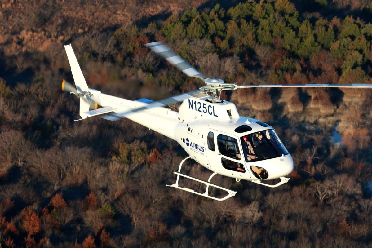 Airbus H125 flying
