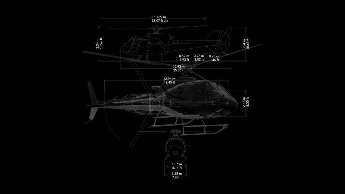 helicopter measurements