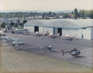 helicopters and planes at portland-hillsboro airport